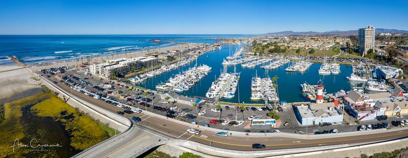 Oceanside Harbor Aerial Panoramic
