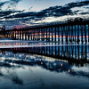 Pier Silhouettes and Reflections