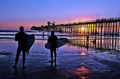 """Admiration - Surfers at sunset""                               #6"