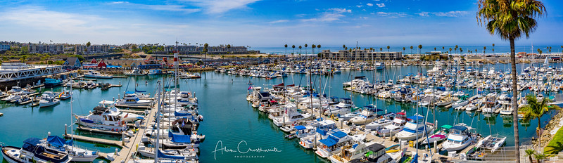Oceanside Harbor daylight panoramic
