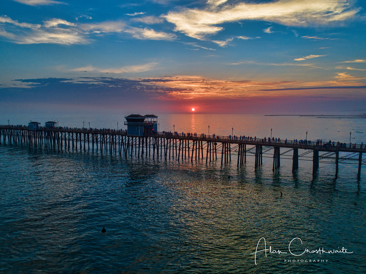 Sunset's glow at the pier