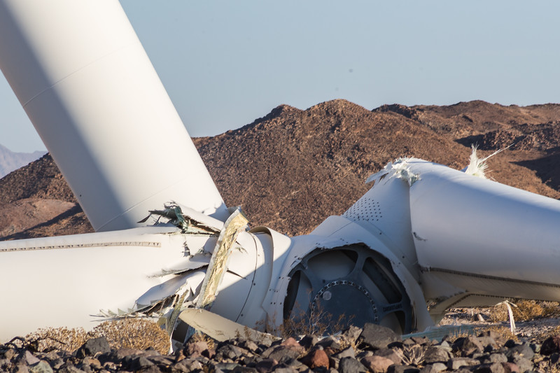 Siemens 2.37MW-108 SWT Wind Turbine Collapse in Ocotillo, California