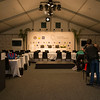 "The media room set up in a marquee tent on teh tennis court at Royal Wellington Golf Club in preparation to host the Asia-Pacific Amateur Championship tournament 2017 held in Heretaunga, Upper Hutt, New Zealand from 26 - 29 October 2017. Copyright John Mathews 2017.    <a href=""http://www.megasportmedia.co.nz"">http://www.megasportmedia.co.nz</a>"