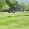 "mowers at work on the  18th fairway preparing the Royal Wellington Golf Club  to host the Asia-Pacific Amateur Championship tournament 2017 held in Heretaunga, Upper Hutt, New Zealand from 26 - 29 October 2017. Copyright John Mathews 2017.    <a href=""http://www.megasportmedia.co.nz"">http://www.megasportmedia.co.nz</a>"