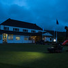"""Early morning view of  the clubhouse and mowing the practice green on 26 October 2017 before  the 1st day of competition in the Asia-Pacific Amateur Championship tournament 2017 held at Royal Wellington Golf Club, in Heretaunga, Upper Hutt, New Zealand from 26 - 29 October 2017. Copyright John Mathews 2017.    <a href=""""http://www.megasportmedia.co.nz"""">http://www.megasportmedia.co.nz</a>"""
