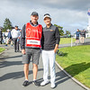 "Chi Quan Truong from Vietnam with his caddy (John Rollins) after hitting off the 1st tee on Day 1 of competition in the Asia-Pacific Amateur Championship tournament 2017 held at Royal Wellington Golf Club, in Heretaunga, Upper Hutt, New Zealand from 26 - 29 October 2017. Copyright John Mathews 2017.    <a href=""http://www.megasportmedia.co.nz"">http://www.megasportmedia.co.nz</a>"