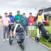"Do Le Gia Dat from Vietnam, Kristopher Williamson from Cook Islands and Brentt Salas from Guam with their caddies after hitting off the 1st tee on Day 1 of competition in the Asia-Pacific Amateur Championship tournament 2017 held at Royal Wellington Golf Club, in Heretaunga, Upper Hutt, New Zealand from 26 - 29 October 2017. Copyright John Mathews 2017.    <a href=""http://www.megasportmedia.co.nz"">http://www.megasportmedia.co.nz</a>"