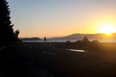 Images taken at dawn on 22 May 2017 of cyclists around Scorching Bay, Wellington, New Zealand. Copyright John Mathews 2017.  www.megasportmedia.co.nz