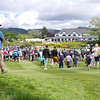 "View of the clubhouse and crowds as seen by fans on the 18th geen with the final group of players on the last day of the Asia-Pacific Amateur Championship tournament 2017 held at Royal Wellington Golf Club, in Heretaunga, Upper Hutt, New Zealand from 26 - 29 October 2017. Copyright John Mathews 2017.    <a href=""http://www.megasportmedia.co.nz"">http://www.megasportmedia.co.nz</a>"