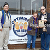 Gary Patterson (from left) and Jackie Davis present the Optimist Friend of Youth Award to Gary Swanson.