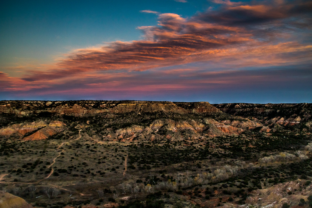 Palo Duro Canyon Sunset