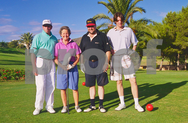 Rachel Heyhoe Flint and team at the Henry Cooper Classic, La Manga Club 1997