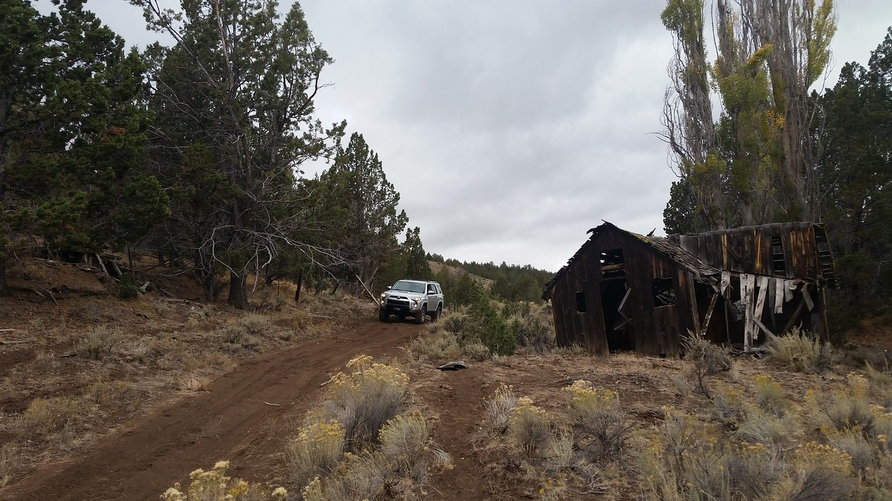 Remains of an old ranch along the trail.