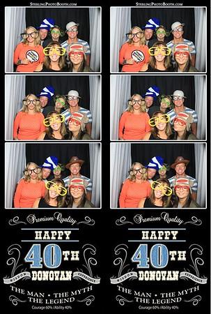 Donova's 40th