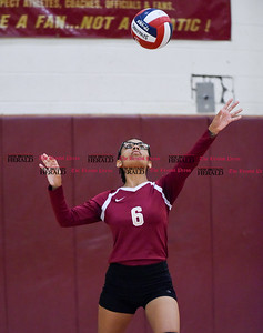 100316  Wesley Bunnell | Staff  New Britain Girls Volleyball vs visiting Hartford Public on Monday afternoon. Jessica Torres Rivera #6