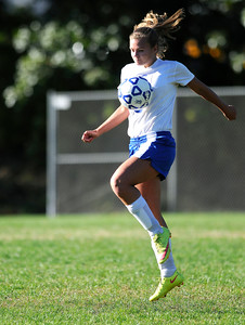 10/11/2016  Mike Orazzi | Staff Bristol Eastern's Megan Perry (18) during Tuesday's soccer match in Bristol.