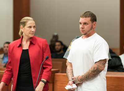 101216  Wesley Bunnell | Staff  Christopher Myers, shown with his attorney, was arraigned in New Britain Superior Court on Wednesday afternoon on charges of fleeing the scene of an accident after running over Gerald Aleksiewicz, a homeless man, on Arch St.