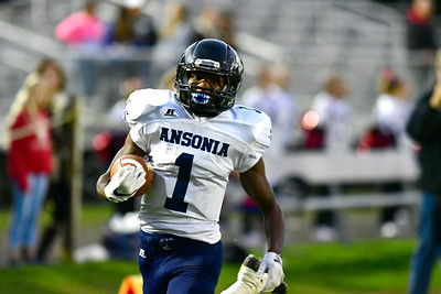 10/13/2016 Mike Orazzi | Staff Ansonia's Markell Dobbs (1) in Bristol Thursday night.