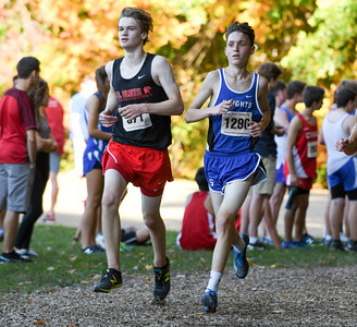 101916  Wesley Bunnell | Staff  The CCC Cross Country Championships were held at Wickham Park in Manchester on Wednesday afternoon. Conner Leone, #1290,  of Southington finished 43rd overall.