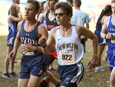 101916  Wesley Bunnell | Staff  The CCC Cross Country Championships were held at Wickham Park in Manchester on Wednesday afternoon. Aiden Toth of Newington, #922, finished 64th overall.