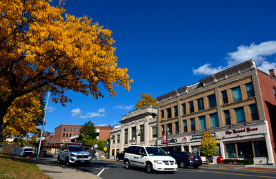 10/19/2016 Mike Orazzi | Staff Fall color on Main Street in Bristol Wednesday.