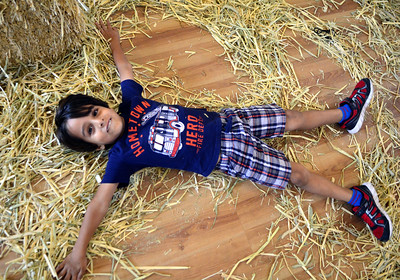 10/19/2016 Mike Orazzi | Staff Samir Singh,4, while at the Imagine Nation Museum in Bristol Wednesday during the Harvest Day events.