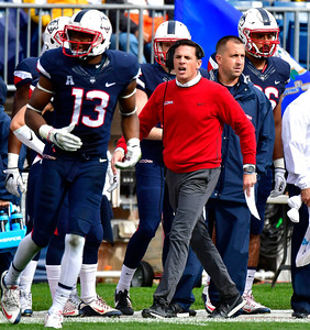 10/22/2016 Mike Orazzi | Staff UConn's Bob Diaco Saturday against UCF.