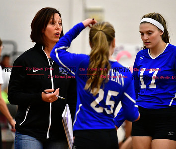10/26/2016 Mike Orazzi | Staff Bristol Eastern's Stacy Rivoira during Wednesday night's match at Central.