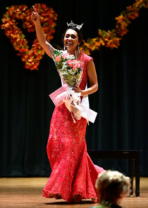 10/29/2016 Mike Orazzi | Staff Miss Bristol Gina Salvatore during the 2017 Miss Bristol, Miss Forestville Scholarship Program at the Chippens Hill Middle School Saturday night.