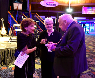 10/29/2016 Mike Orazzi | Staff Lucille Janatka talks with Elaine and Ed Murphy during the Come Together Gala a benefit for the Hartford HealthCare Cancer Institute at MidState Medical Center and The Hospital of Central Connecticut held at the Oakdale Theatre Saturday evening in Wallingford.