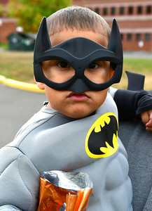 10/29/2016 Mike Orazzi | Staff Scott Cancel,2, during the New Britain Parks, Recreation and Community Services Department's Halloween Spooktacular at the Slade Middle School Saturday in New Britain.