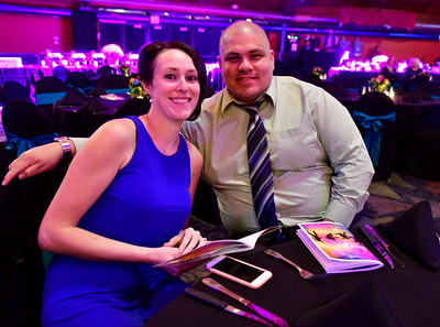 10/29/2016 Mike Orazzi | Staff Katelyn and Chris Spence during the Come Together Gala a benefit for the Hartford HealthCare Cancer Institute at MidState Medical Center and The Hospital of Central Connecticut held at the Oakdale Theatre Saturday evening in Wallingford.  Sent from my iPhone