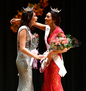 10/29/2016 Mike Orazzi | Staff Miss Forestville Erika Farrell and Miss Bristol Gina Salvatore during the 2017 Miss Bristol, Miss Forestville Scholarship Program at the Chippens Hill Middle School Saturday night.