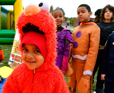 10/29/2016 Mike Orazzi | Staff Jymel Verdejo,3, during the New Britain Parks, Recreation and Community Services Department's Halloween Spooktacular at the Slade Middle School Saturday in New Britain.