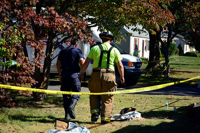 10/6/2016 Mike Orazzi | Staff Firefighters are at the scene of a house fire on Betsy Road in Plainville Thursday morning. Officials on scene have not yet commented as to whether anyone was home or if any injuries were reported.