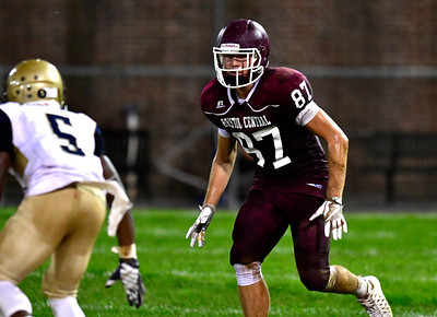 9/23/2016 Mike Orazzi   Staff Bristol Central's Connor Staubley (87) at Muzzy Field Friday night.