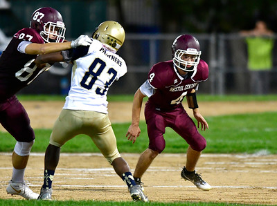 9/23/2016 Mike Orazzi   Staff Bristol Central's Patrick Kenney (4) at Muzzy Field Friday night.