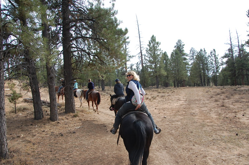 We took a horseback ride along the rim of Bryce Canyon NP.  It has been 25 years since I rode a horse.  I actually used to ride a lot as a kid and even did 4-H events like barrel racing and the like.  This ride brought a lot of that back.  Fun times!
