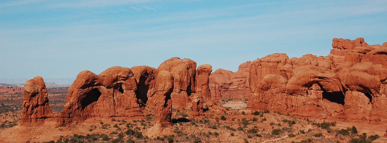 Arches NP.  Tiny little people on the right side / center give this some scale.