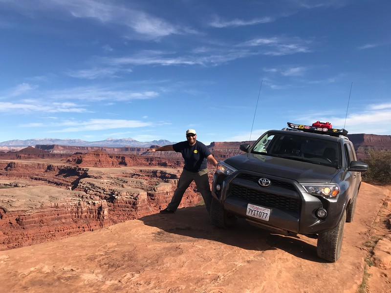 I have at least 3 feet between the truck and the Colorado River, 500 feet below.  Along the White Rim Trail, Canyonlands NP.