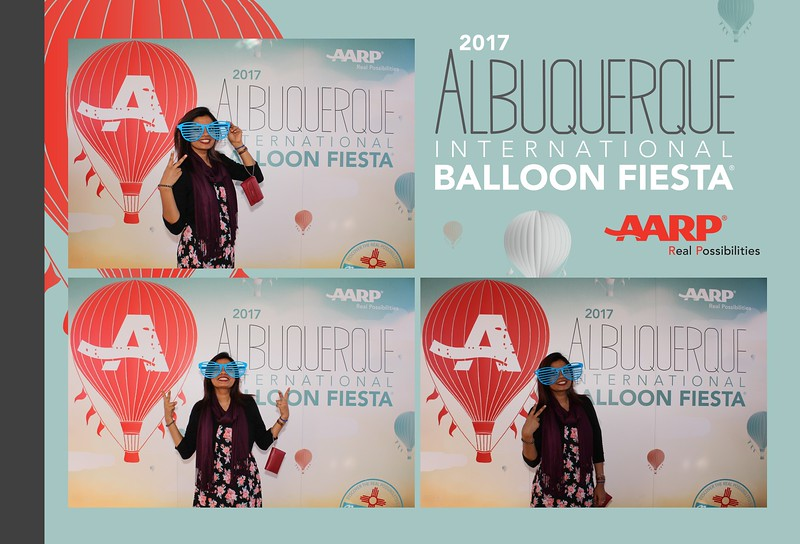 Saturday fun at the 2017 Balloon Fiesta with the AARP Block Party photo booth!