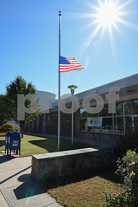 10/02/17  Wesley Bunnell | Staff  In response to the Las Vegas shootings the flag flies at half staff on Monday outside of the Bristol Post Office on North Main St.