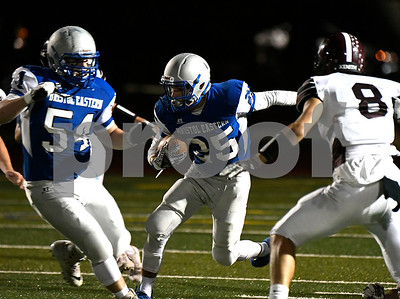 10/6/2017 Mike Orazzi | Staff Bristol Eastern's Jaden Laprise (25) Friday night in Bristol.