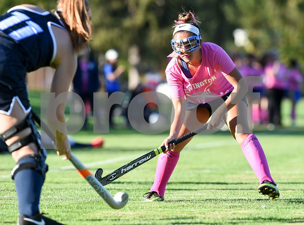 10/10/17 Wesley Bunnell | Staff Easton vs Newington field hockey on Tuesday afternoon at Newington High School. Amber Miller (12).