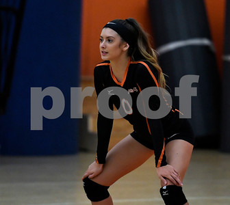 10/11/2017 Mike Orazzi | Staff Terryville's Cara Andrews  (0) during Wednesday night's match with Northwestern.