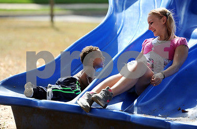 10/11/2017 Mike Orazzi   Staff Amber Cyr and her son Ayden, 22 months, while in the park on Federal Hill in Bristol Wednesday.
