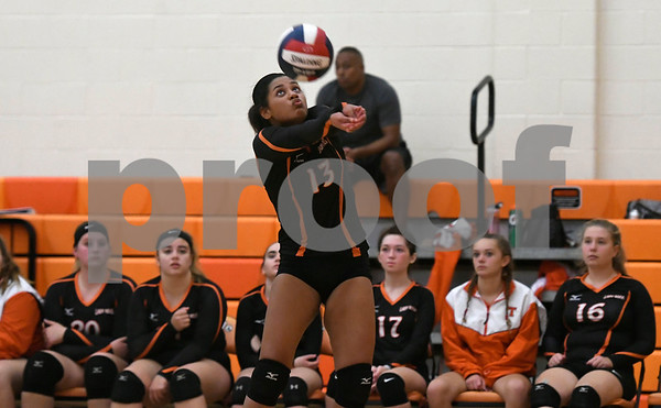 10/11/2017 Mike Orazzi | Staff Terryville's Kristine Gutierrez (13) during Wednesday night's volleyball match in Terryville.