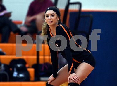 10/11/2017 Mike Orazzi   Staff Terryville's Cara Andrews (0) during Wednesday night's match with Northwestern.