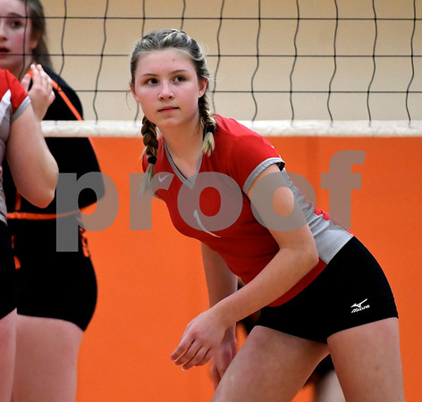 10/11/2017 Mike Orazzi | Staff Northwestern's Samantha Sage (1) during Wednesday night's volleyball match with Terryville.