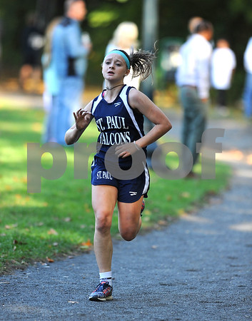 10/12/2017 Mike Orazzi | Staff St. Pauls Kailyn Beliecki during the city cross country meet Thursday afternoon in Rockwell Park.